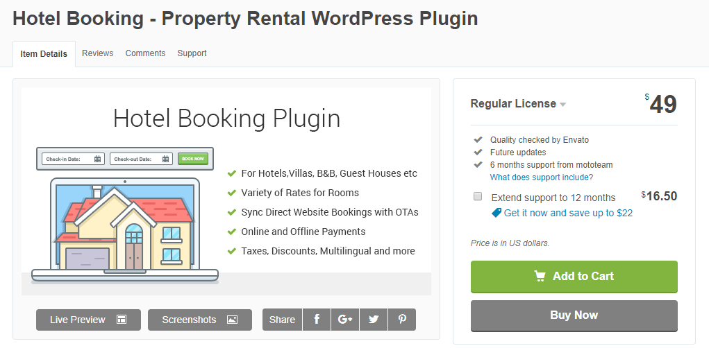 WordPress Hotel Booking-WordPress Booking Plugin