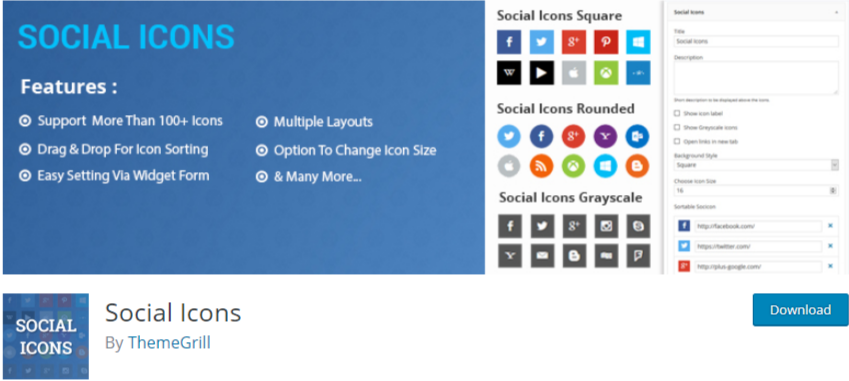 Boost blog traffic Social icons