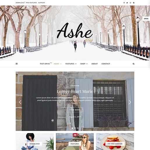 ashe-free-feminine-wordpress-theme