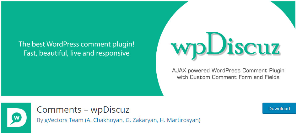 best plugins for blogs comments wpDiscuz