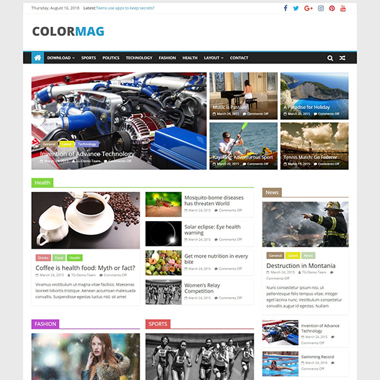 colormag pro premium wordpress business theme