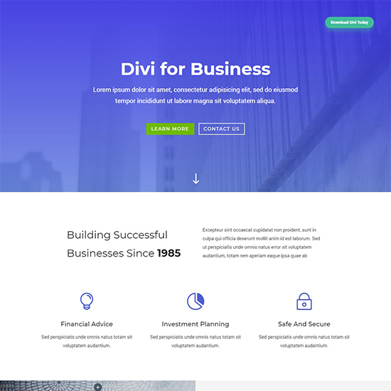 divi premium wordpress business theme