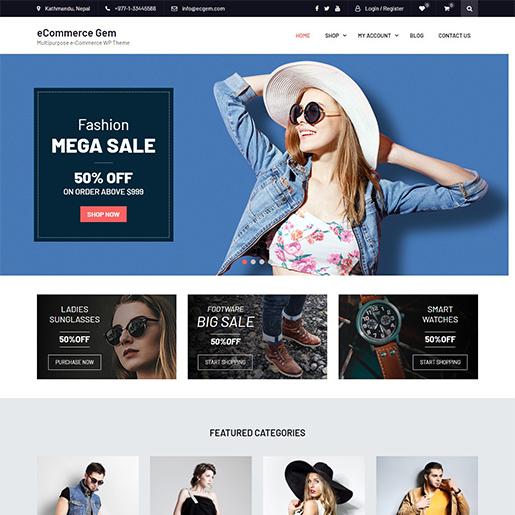 ecommerce-gem-free-feminine-wordpress-theme