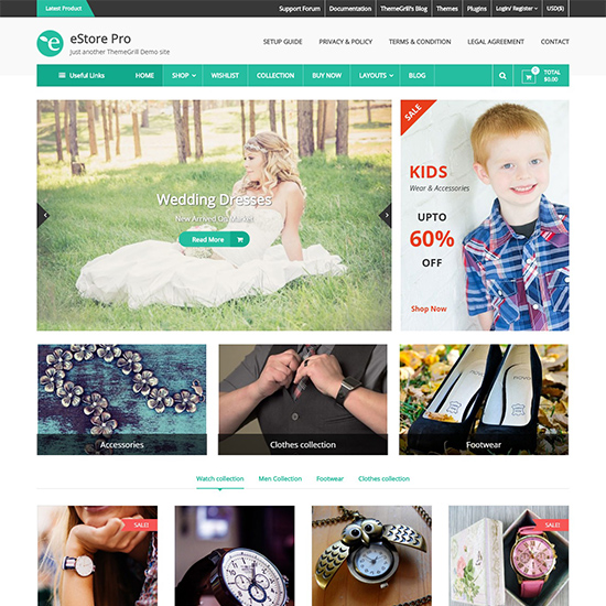 estore pro premium wordpress business theme