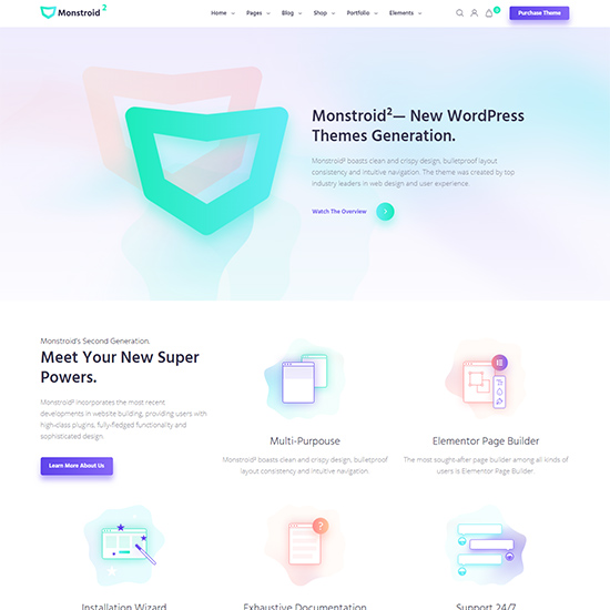 monstroid premium wordpress business theme