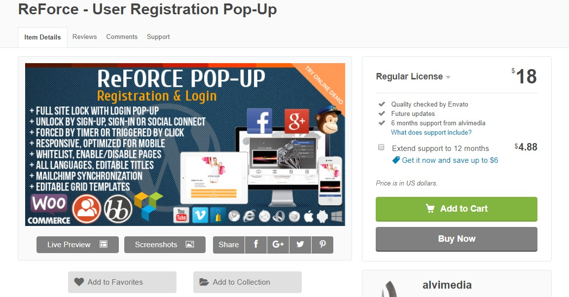 reforcewordpress registration plugin