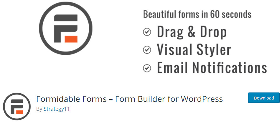 wordpress form builder formidable forms