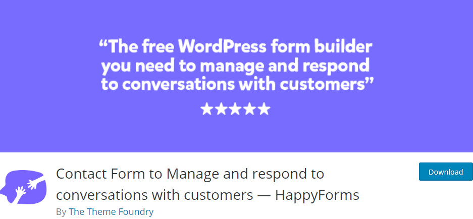 wordpress form builder happy forms