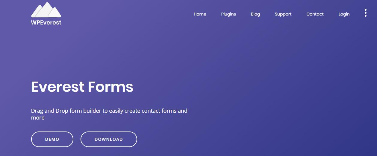 wordpress form builder plugins everest forms