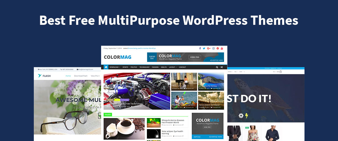 20 Best Free MultiPurpose WordPress Themes For Websites Of All Niche!