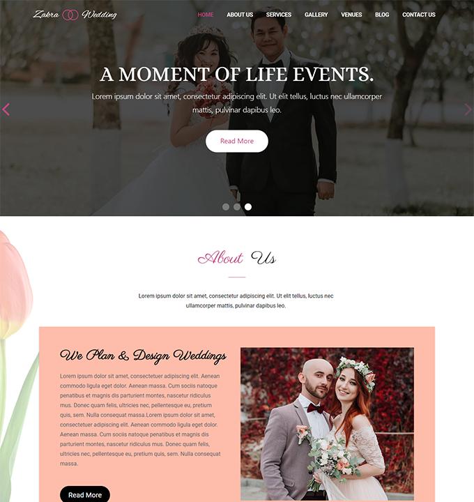 Zakra Wedding WordPress Theme