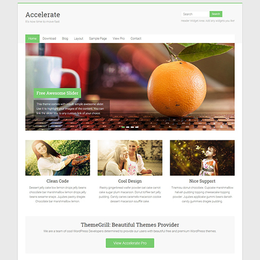 accelerate free event wordpress theme