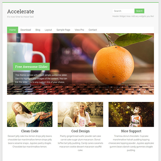 accelerate multipurpose wordpress themes