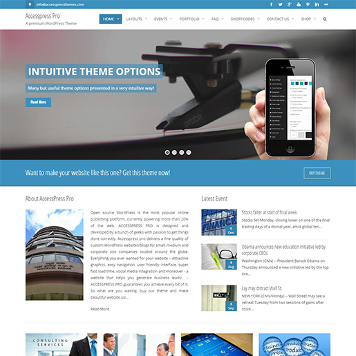 accesspress pro premium wordpress business theme
