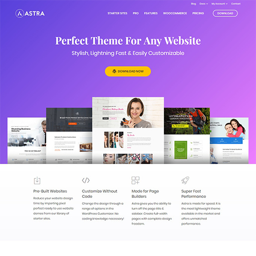 astra multipurpose wordpress themes