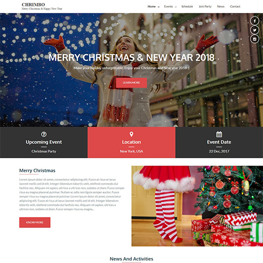 chrimbo free event wordpress theme