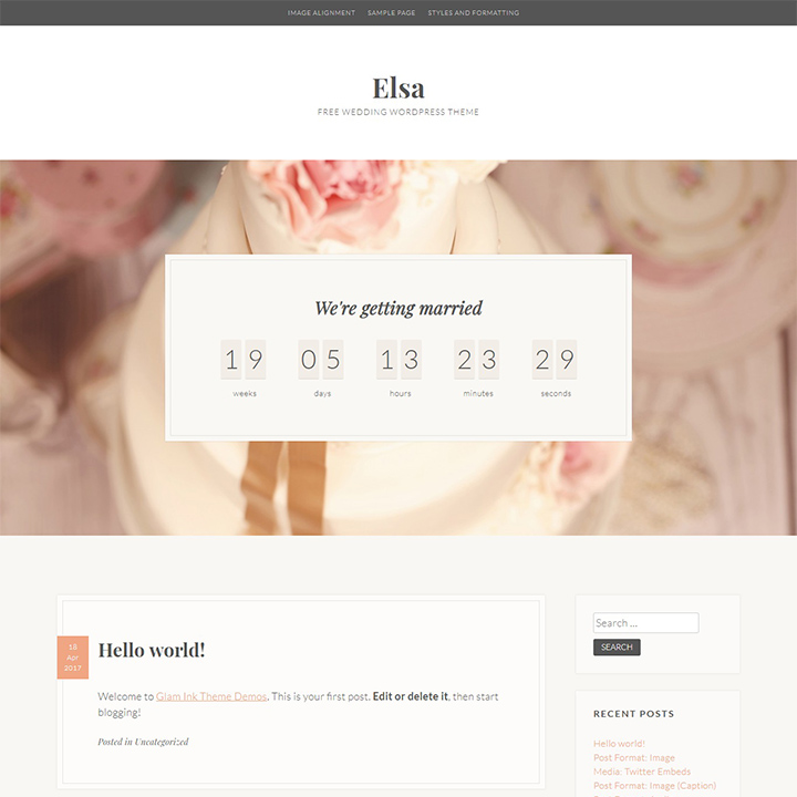 20 Elegant and Chic Best Free Wedding WordPress Themes For 2018!