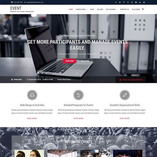 event free event wordpress theme
