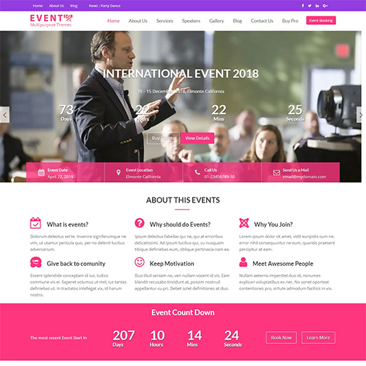 event star free event wordpress theme