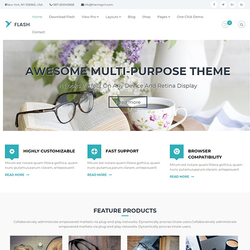 flash multipurpose wordpress themes