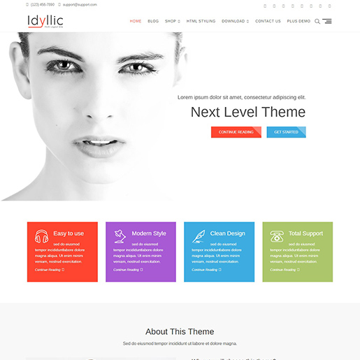 idyllic free event wordpress theme
