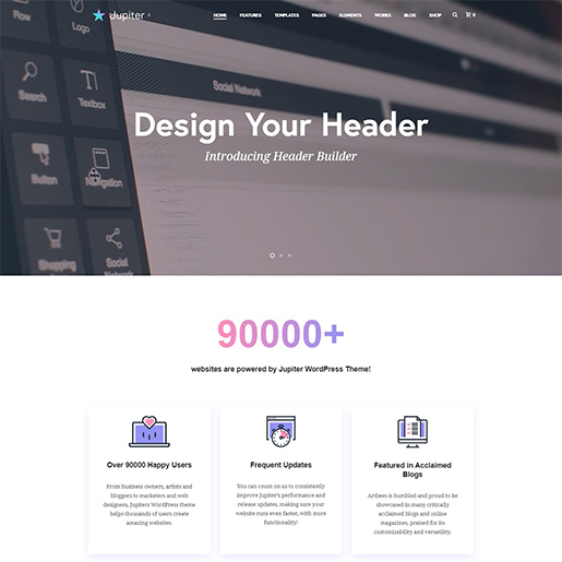 jupiter premium wordpress business theme
