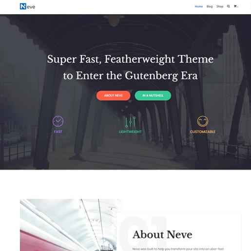 neve wordpress business theme