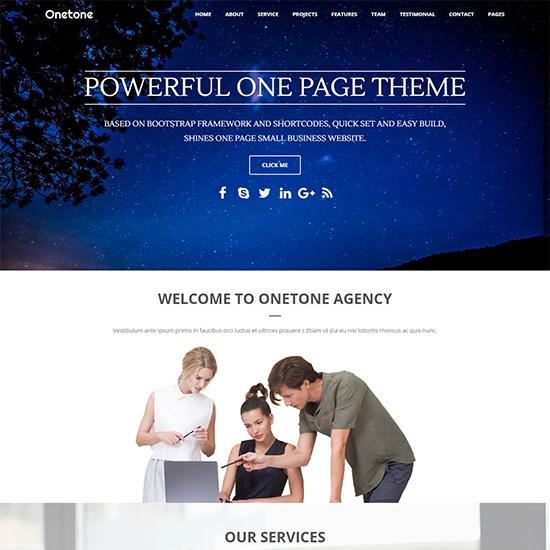 onetone elementor theme