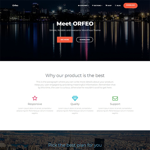 orfeo multipurpose wordpress themes