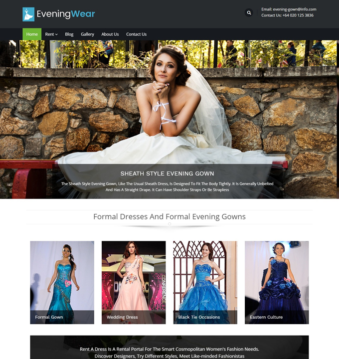 premium-wordpress-wedding-themes-evening-wear
