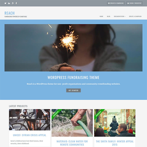 reach free event wordpress theme