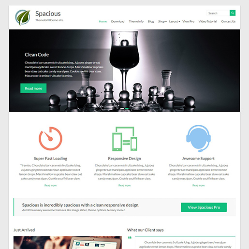spacious free event wordpress theme