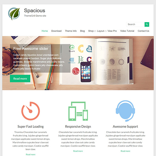 spacious multipurpose wordpress themes