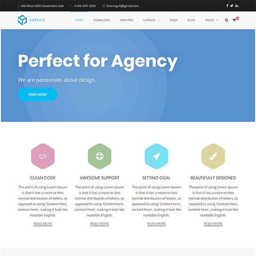 suffice free event wordpress theme