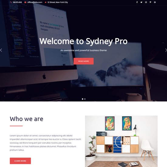 sydney pro premium wordpress business theme