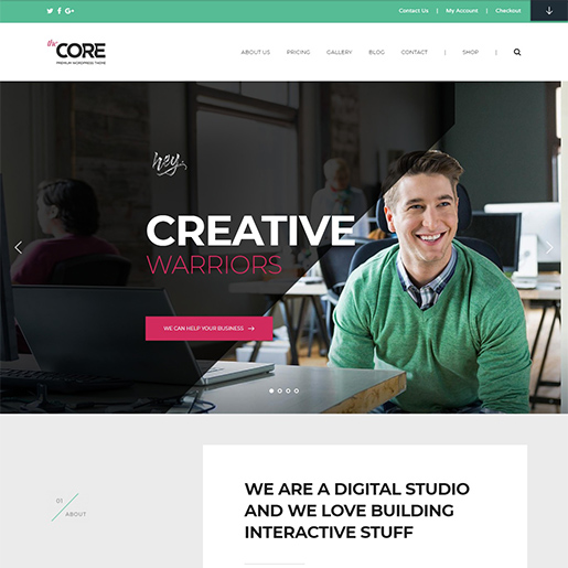 thecore premium wordpress business theme