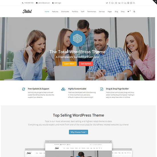 total premium wordpress business theme