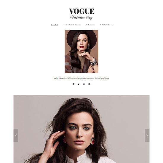 vogue elementor theme