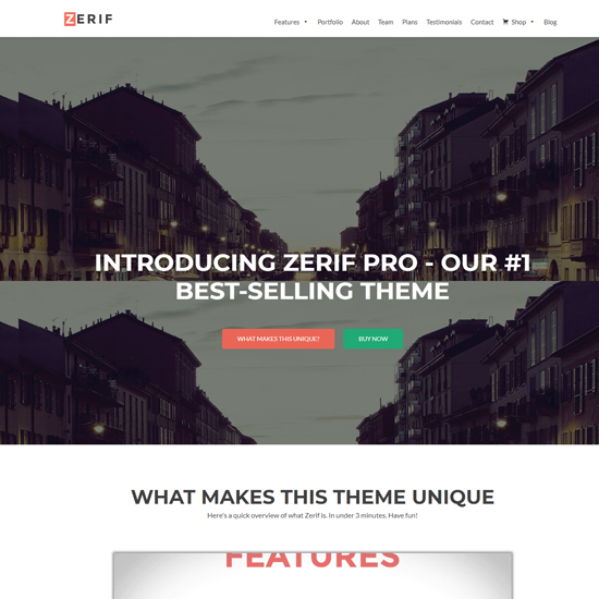 zerif pro premium wordpress business theme