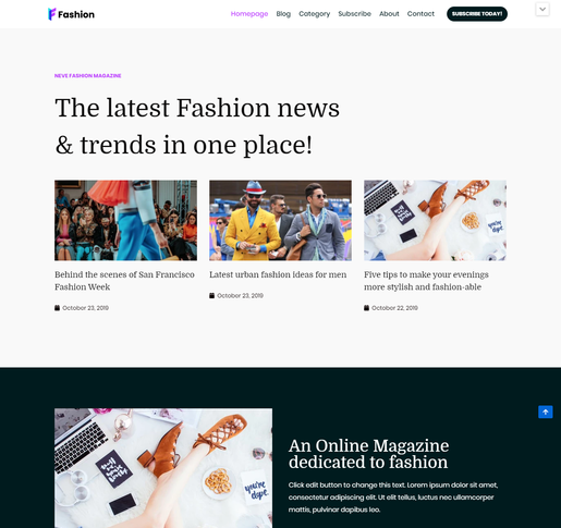 Neve Fashion WordPress Themes