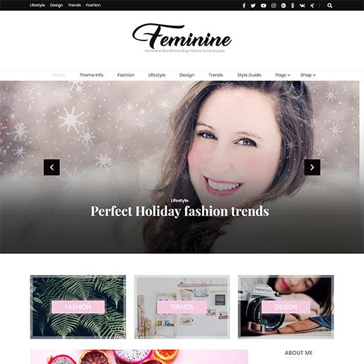 blossom feminine free fashion wordpress theme