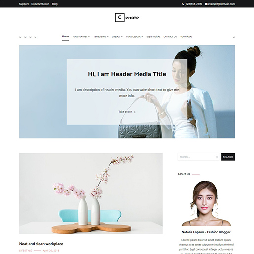 If you want a fashion blog WordPress theme for your fashion blog, Cenote can be a great help for you.