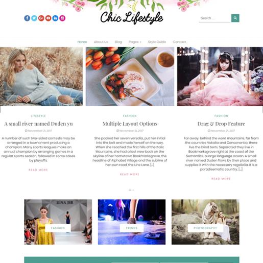 chic lifestyle free fashion wordpress theme