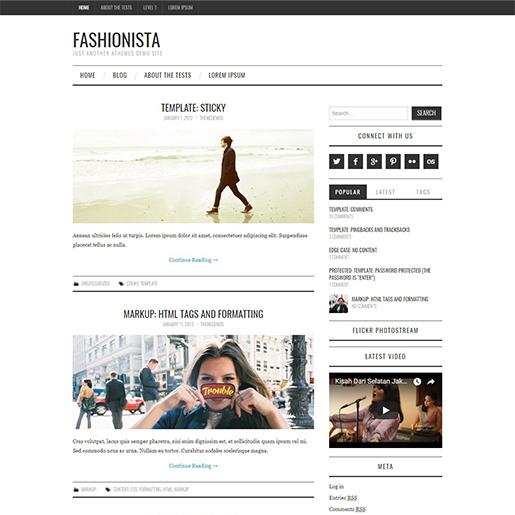 fashionista free fashion wordpress theme