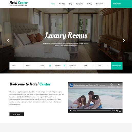 Wordpress Hotel Themes Center Lite