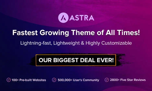 astra theme wordpress black friday deals