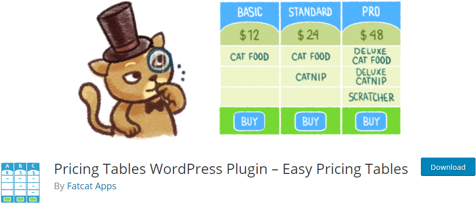 easy pricing table wordpress pricing table plugins