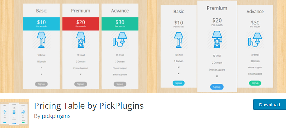 pricing table pickplugins wordpress pricing table plugins