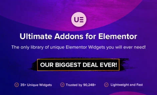 black friday cyber monday ultimate addon elementor
