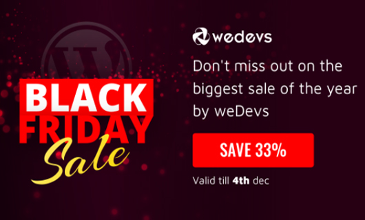 wedevs wordpress black friday deals